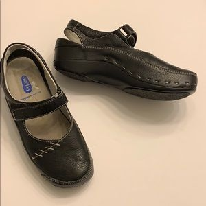 Wolky Mary Jane leather clogs